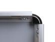 32 mm-es biztonsági profil, kerek sarokkal, nyitva