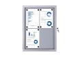 Economy kültéri vitrin, 4 × A4 méretben, 2 × 2 elrendezésben
