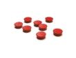 20mm-es mágnes szett - 8 db - piros