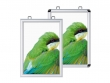 Kétoldalas, standard plakátkeret: gérbe vágott (szögletes) vagy lekerekített sarokkal