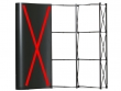 Pop-up fal szerkezet összeállítva: a nyomatok a szerkezet 100%-át eltakarják