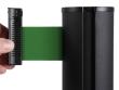 Fekete kordonoszlop, zöld színű szalaggal