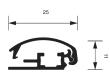 25 mm-es profil keresztmetszete