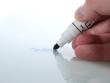 Speciális filctollal írható, szárazon törölhető