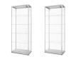 80 × 40 cm-es kivitel, LED világítással, oldalsó és front oldali ajtókkal