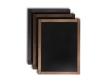 Vintage krétatábla fekete, sötétbarna és világosbarna színben